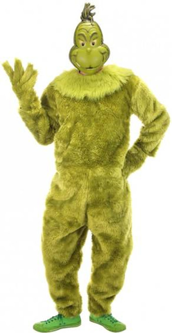 The Grinch Deluxe Jumpsuit Licensed Mens Costume with Mask L/XL