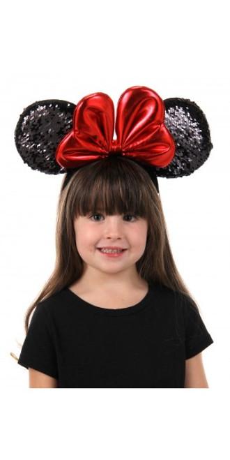 Minnie Sequin Ears Headband Licensed Disney
