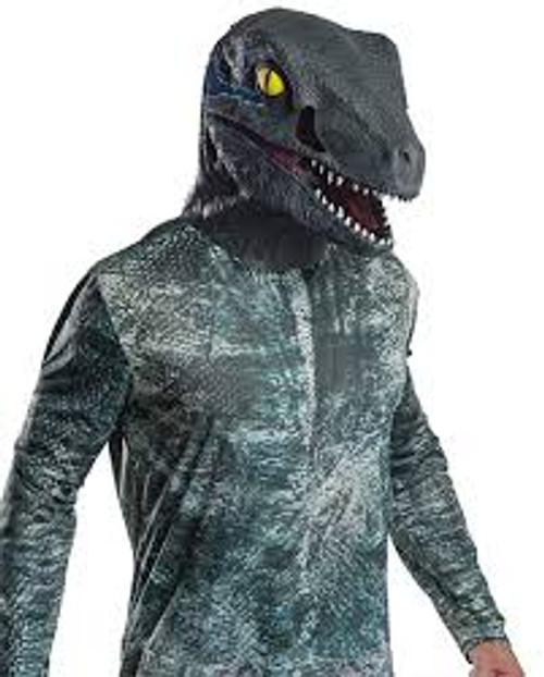 Velociraptor Deluxe Blue Latex Mask