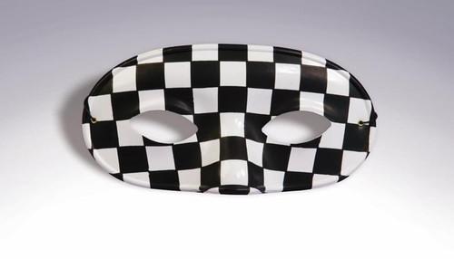 Black and White Checkered Half Mask (64052)