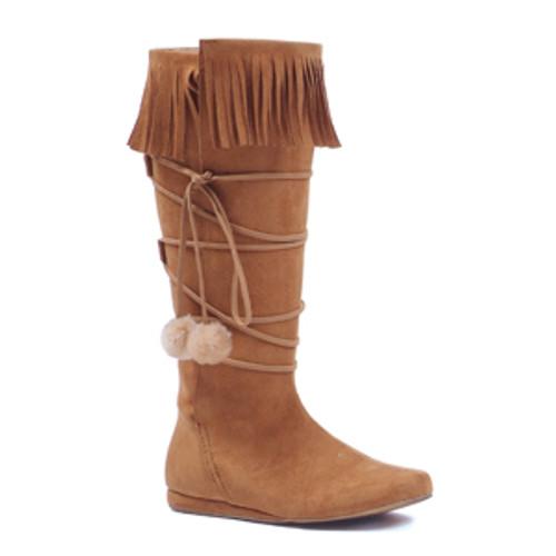 Dakota Ladies Faux Leather Knee High Boots w/ Fringe