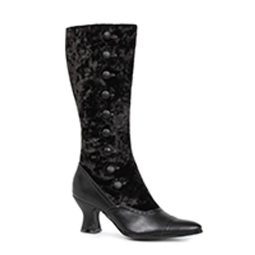 """Gail 2.5"""" Heel Boot Black Velvet"""