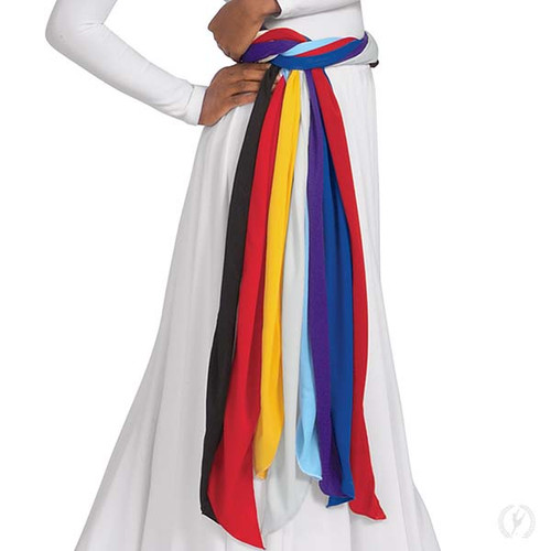 Polyester adult sash dance made by eurotard