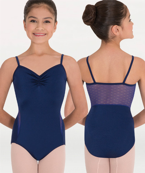 * supportive bodice features an adjustable drawstring front * mesh bodice back wraps into flattering sheer side panels for an ultra stunning appearance * memoryStretch™ front lining * custom tiler leg line & fit