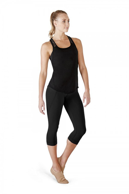 This versatile mid rise capri legging can be worn across a wide variety of styles from the dance to yoga, fit classes and the gym. A wide width waistband, sits comfortably on the waist, not too high and not too low. Seaming detail down the leg for a flattering fit.  Features  Wide waistband sits comfortably at the waist Crop length Flattering seaming detail Notes  Machine wash cold, lay flat to dry