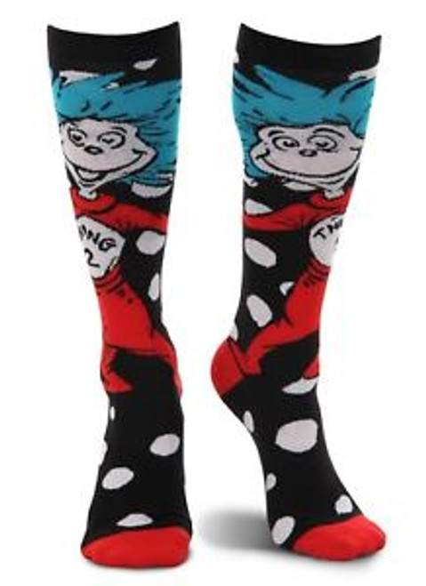 Dr. Seuss Thing 1 & 2 Knee High Socks with Polka Dots