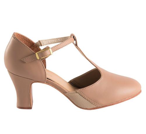 SoDanca Caramel Ladies T-Strap Character Shoe