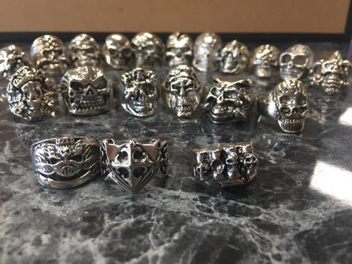 Assorted metal gothic rings