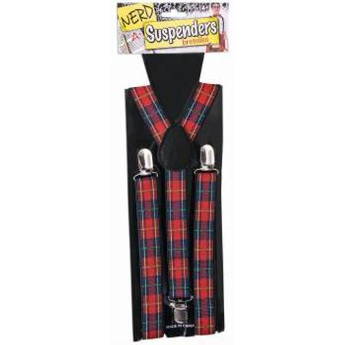 Plaid Nerd Suspenders