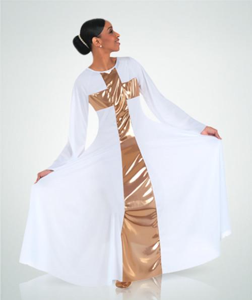 Body Wrappers Praise Cross Long Plus Ladies Dress