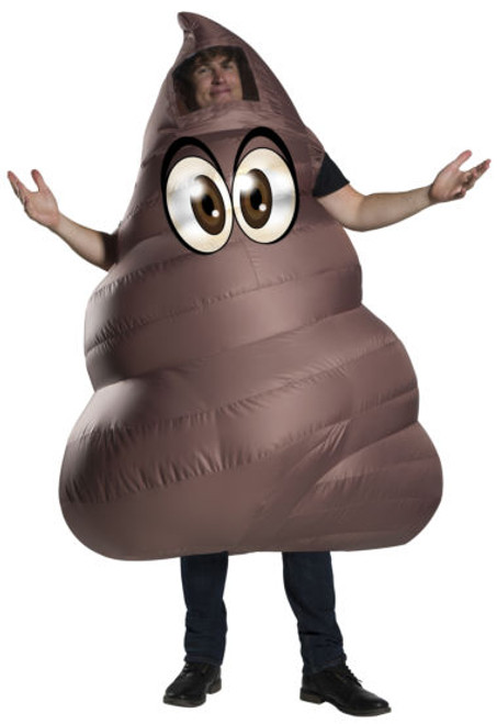 Poop Emoji Inflatable Adult Costume