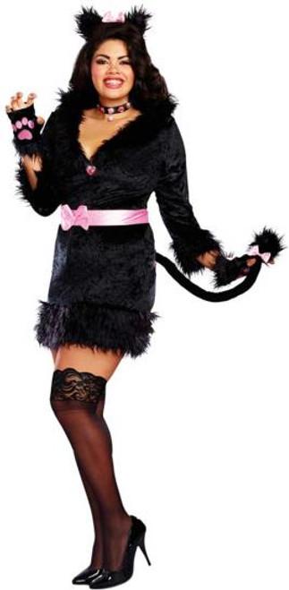 Cattitude Womens Plus cat costume