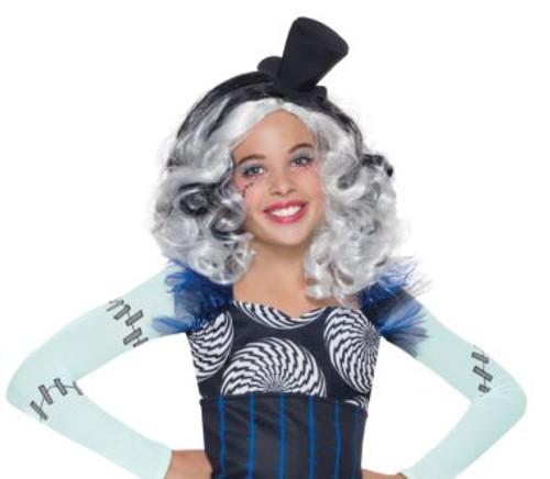 Frankie Stein kids wig Licensed Monster High