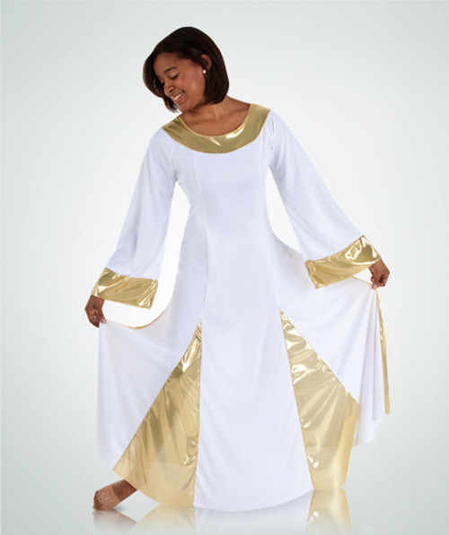 Ladies Long Sleeve Praise Dress Plus (575XX)