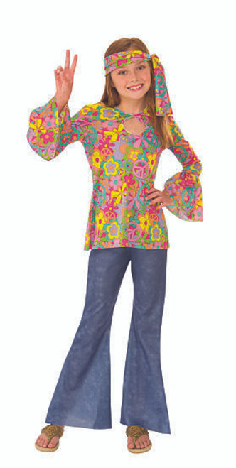 Hippie Flower Girl Costume