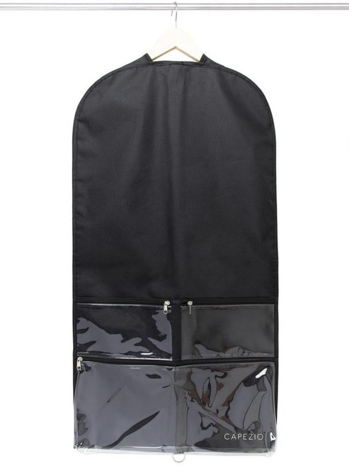"""Transport, protect and store your costumes with ease! Zipper pockets to keep all your headpieces, makeup and shoes in one place.  Product Features: One Size: 36"""" X 19"""" Material: PVC and Polyester"""
