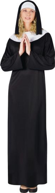 NUN  What's Included:  Gown Veil Adult Size