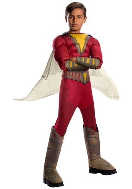 Shazam Deluxe Muscle Licensed Childs Costume