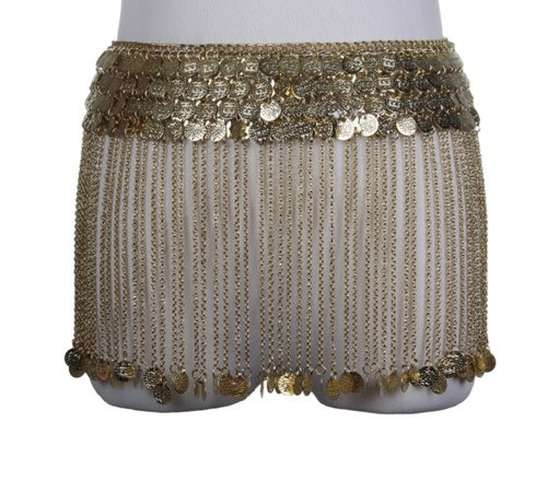 Belly Dancer Coin Belt With Hanging Coin Tassels Gold