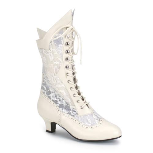"""Ladies Lace Victorian Ankle Boot 2"""" Heel Pioneer"""