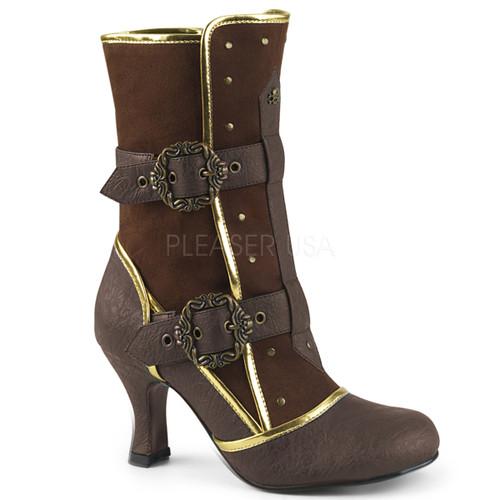 "Ladies Round Toe Ankle Boot 3"" Side Zip"