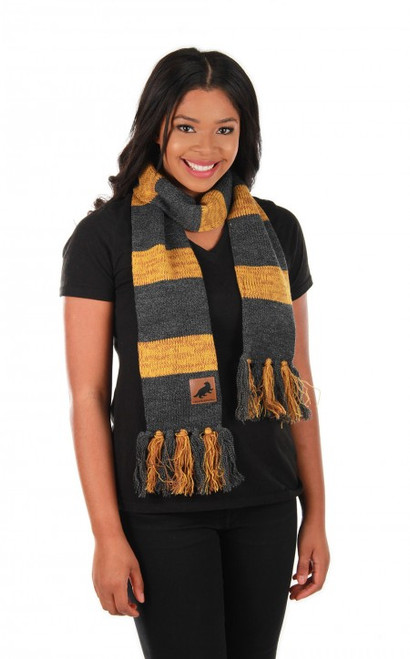 Hufflepuff Heathered Knit Scarf Licensed Harry Potter