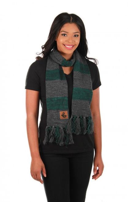 Slytherin Heathered Knit Scarf Licensed Harry Potter