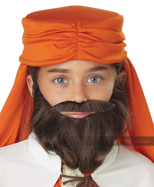 Wise Man Beard and Mustache Child Brown
