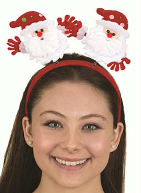Velvet Santa Bopper Headband