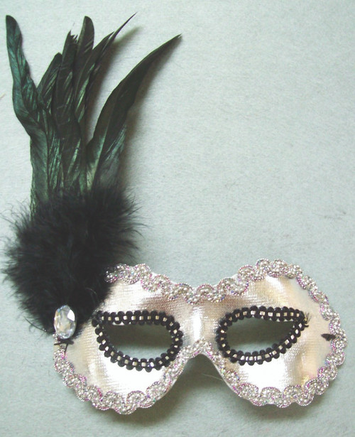 Sliver Mask w/ Feather on Side