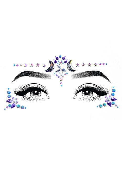 Leg Avenue Mystic Adhesive Face Jewels Sticker
