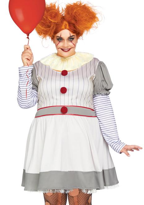 Leg Avenue Creepy Clown Ladies Plus Costume