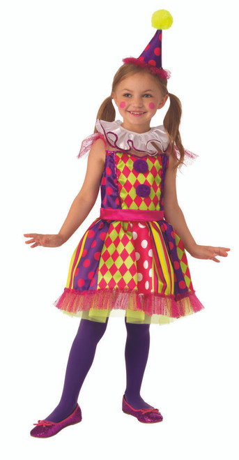 Kids Bright Clown Costume