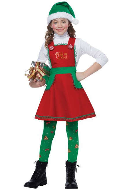 Elf In Charge Girls Costume