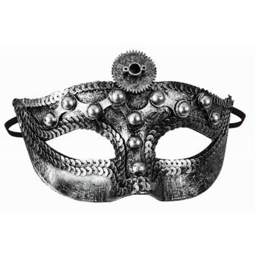 Steampunk w/ Lens Silver Mask