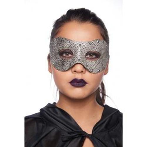 Venetian Eye Mask Snake Skin with Metal Studs