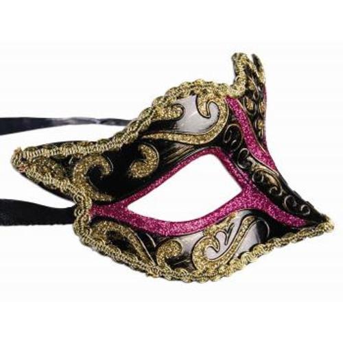 Eye Mask w/ Ribbon Black
