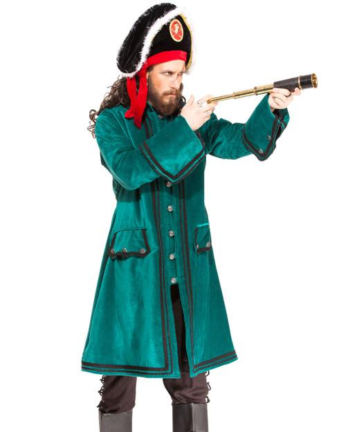 Pirate Captain Booth Mens Coat