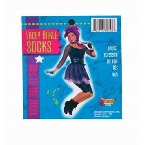 Lacey Ankle Socks Black
