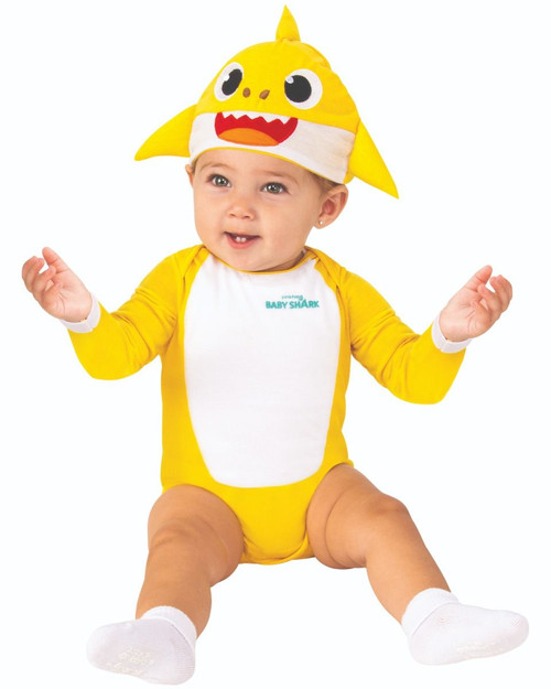 Child Baby Shark Infant One Piece Jumpsuit and Cap