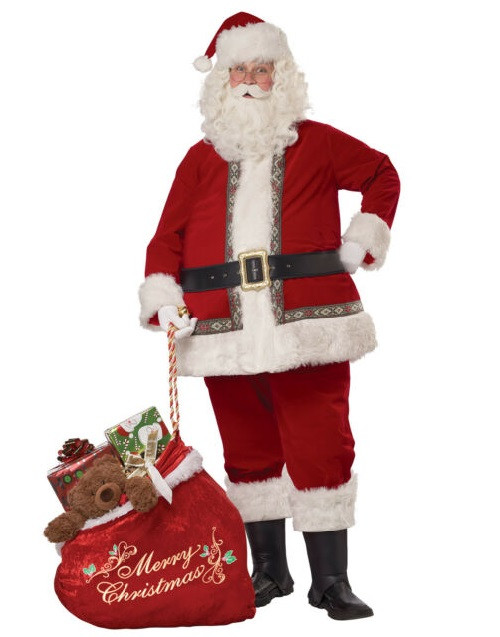 Deluxe Santa Claus Set Adult Costume
