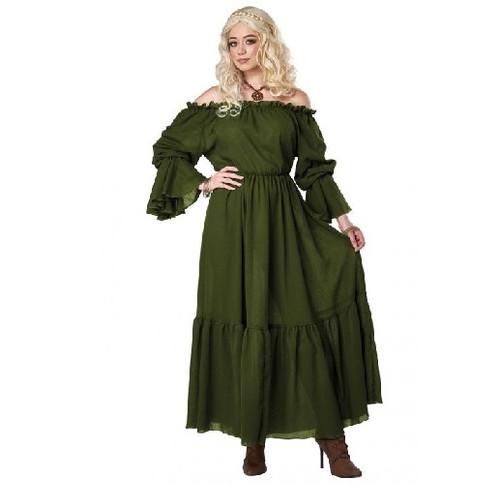 Renaissance Peasant Chemise Green Adult Costume