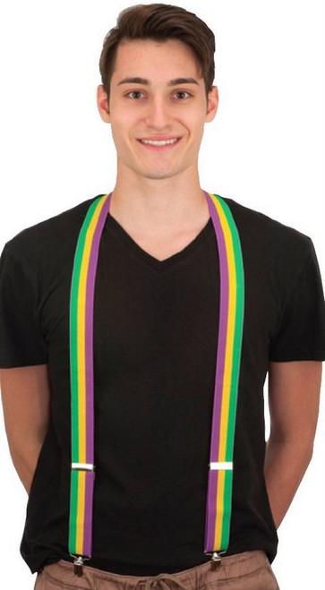 Mardi Gras Elastic Suspenders