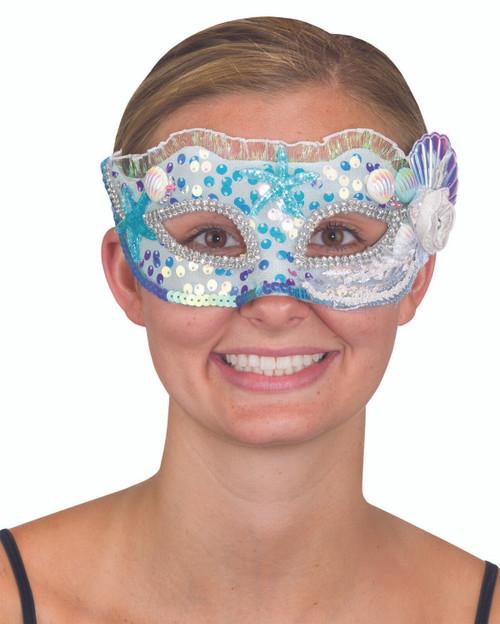 Multi Color Mermaid Mask w/ Shells & Starfish