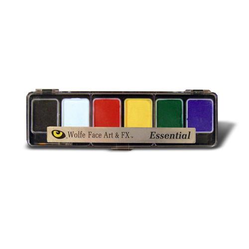 Wolfe Face Paint Hydro Color 6 Color Palette Essentials