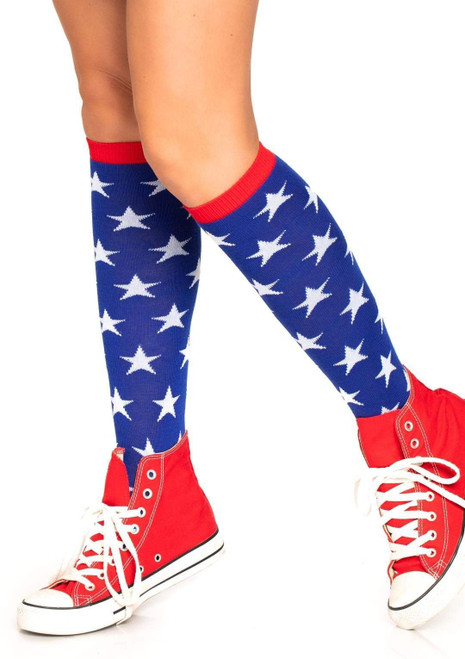 Star Knee High Socks