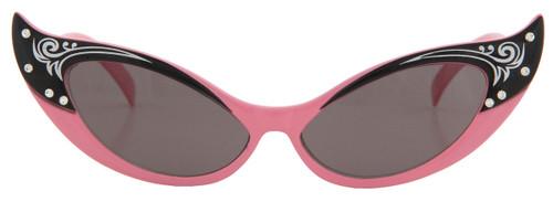 Vintage Cat Eyes Glasses Pink/Clear