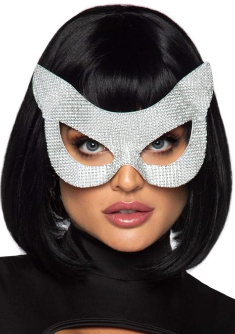 Rhinestone Cat Mask