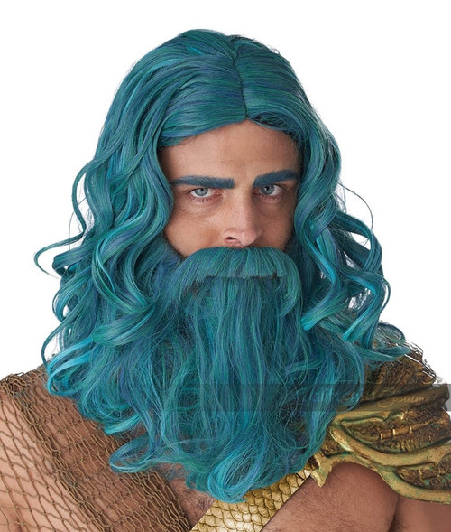 Ocean King Poseidon Wig and Beard Set