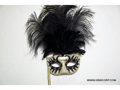Handheld Mardi Gras Masquerade Mask
